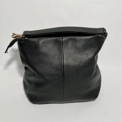 Leather Handbag  SARA Black