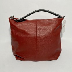 Leather Handbag  SARA Red Earth