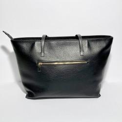 Leather Handbag CORSICA black
