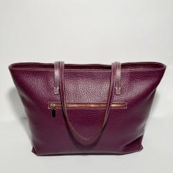 Lederhandtasche CORSICA Violett
