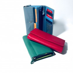 Leather Wallet large (mod. Laura)