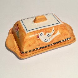 Solimene hand painted butter tray