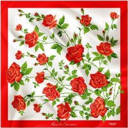 Daphné Silk Scarf Rosa Rossa