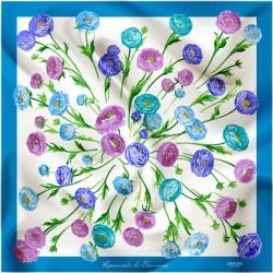 Ranuncolo blue on white