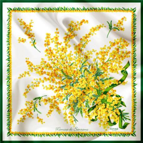Daphne Seidentuch Mimosa auf Weiß